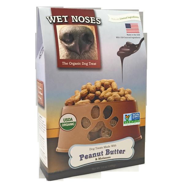 Wet Noses Peanut Butter & Molasses Dog Treats, 14-oz