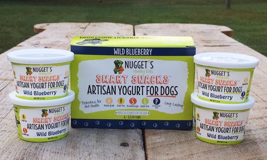 Nugget's Healthy Eats Wild Blueberry Frozen Yogurt for Dogs, 4-pk