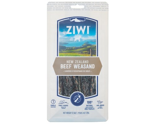 Ziwi Dog Peak Oral Chews Beef Weasand Air-Dried Dog Chews, 2.5-oz