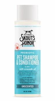 Skout'S Honor Pet Probiotic Shampoo & Conditioner, Unscented