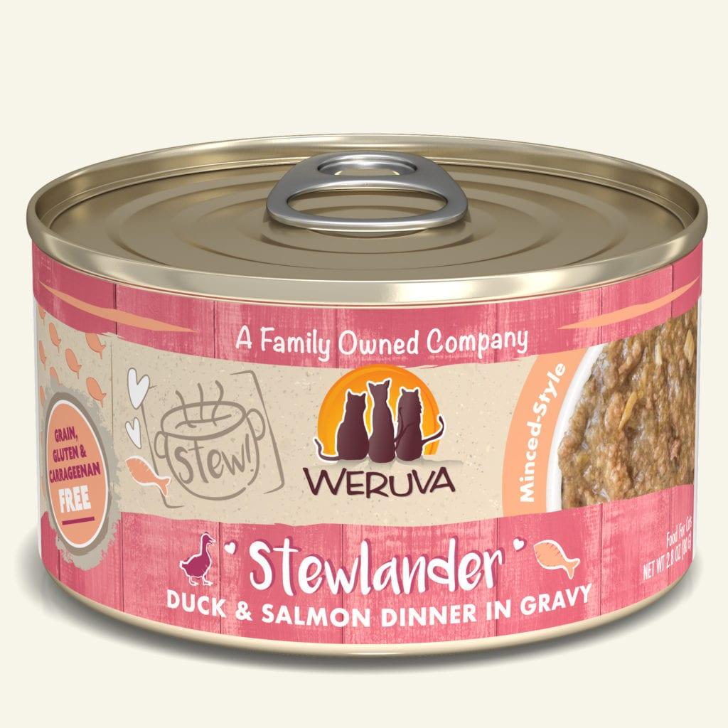 Weruva Cat Stew! Stewlander Duck & Salmon Dinner in Gravy Wet Cat Food, 5.5-oz