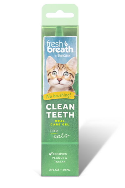 TropiClean Fresh Breath Clean Teeth Oral Care Gel For Cats