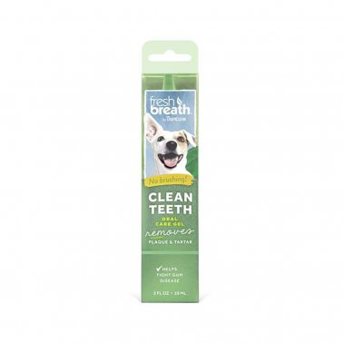 TropiClean Fresh Breath Clean Teeth Oral Care Gel For Dogs