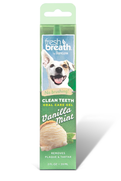 TropiClean Oral Care Gel With Vanilla Mint Flavoring For Dogs
