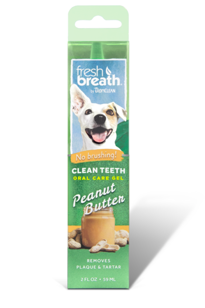 TropiClean Oral Care Gel With Peanut Butter Flavoring For Dogs
