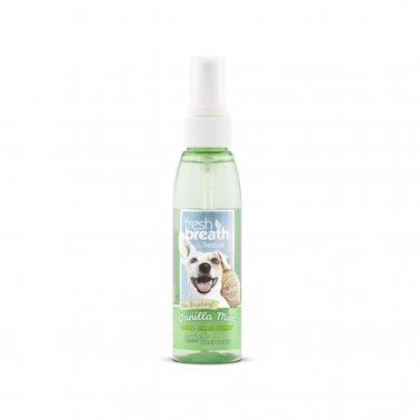 TropiClean Oral Care Spray With Vanilla Mint Flavoring For Dogs