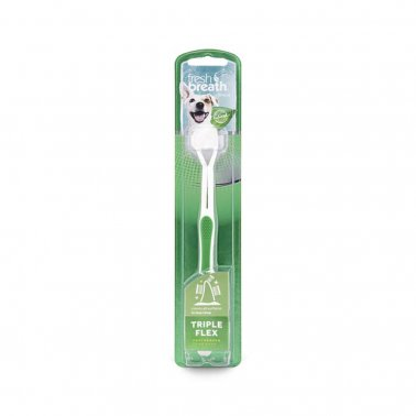 TropiClean Fresh Breath Triple Flex Toothbrush For Dogs