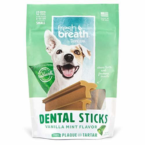 TropiClean Advanced Small Cleaning Dental Dog Stick - Vanilla Mint