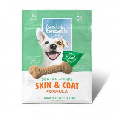 TropiClean Advanced Small Skin & Coat Dental Dog Chew