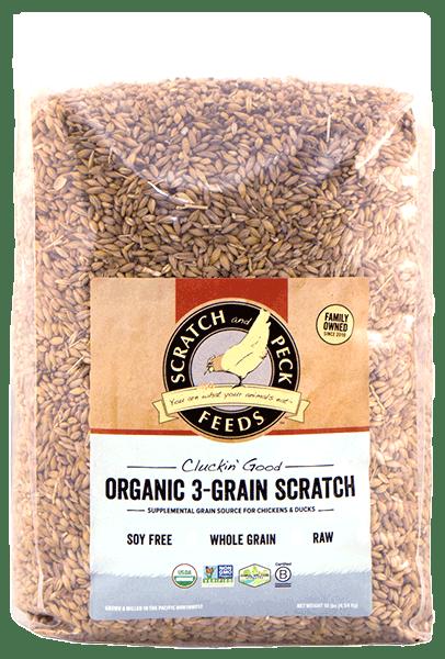 Scratch & Peck Naturally Free Organic 3 Grain Chicken Scratch, 10-lb