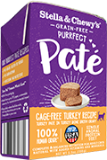 Stella & Chewy's Purrfect Paté Cage-Free Turkey Recipe Wet Cat Food , 5.5-oz