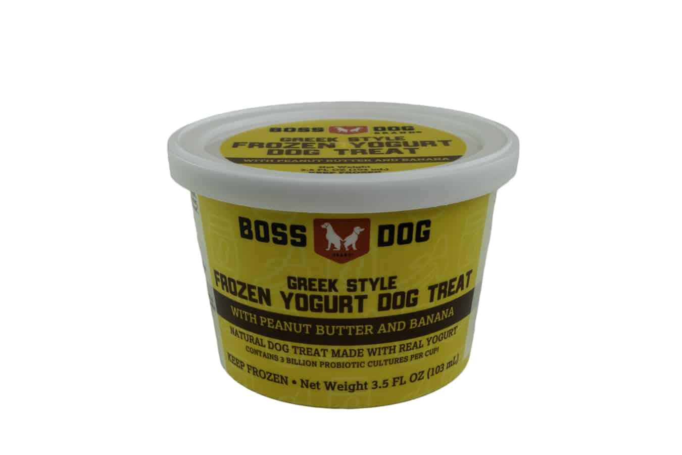 Boss Dog PB & Banana Frozen Yogurt Dog Treats, 3.5-oz, Single Cup