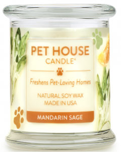 One Fur All Mandarin Sage Candle