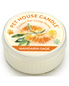 One Fur All Mandarin Sage Small Candle