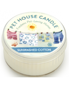 One Fur All Sunwashed Cotton Small Candle