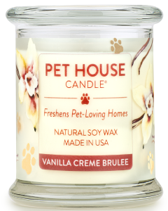 One Fur All Vanilla Creme Brulee Candle