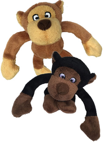 Loopies Tiny Gorilla Dog Toy - Assorted