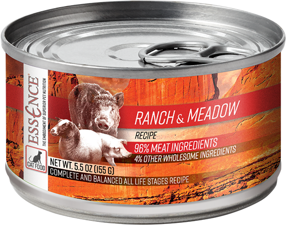 Essence GF Ranch & Meadow Cat Can Wet Food, 5.5-oz, case of 24