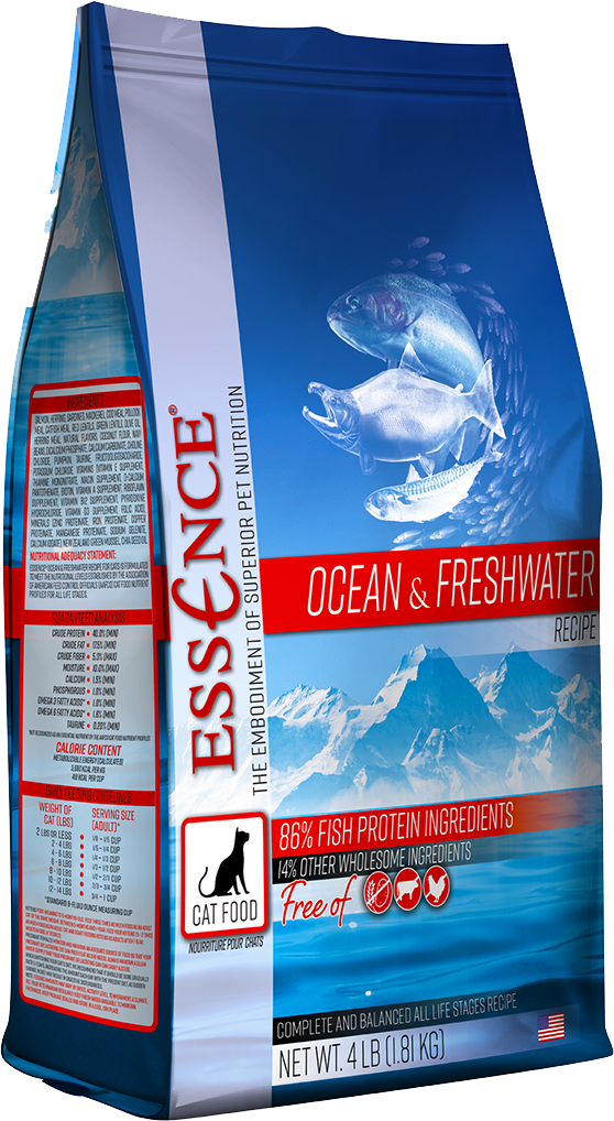 Essence GF Ocean & Freshwater Dry Cat Food, 4-lb