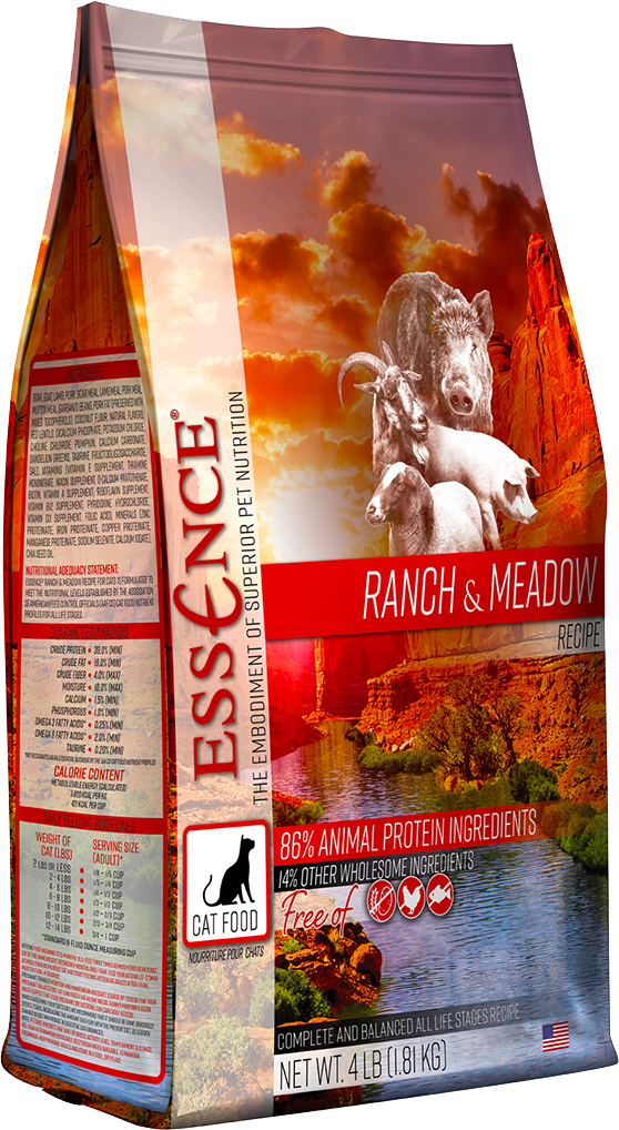 Essence Cat Dry GF Ranch & Meadow Dry Cat Food, 4-lb