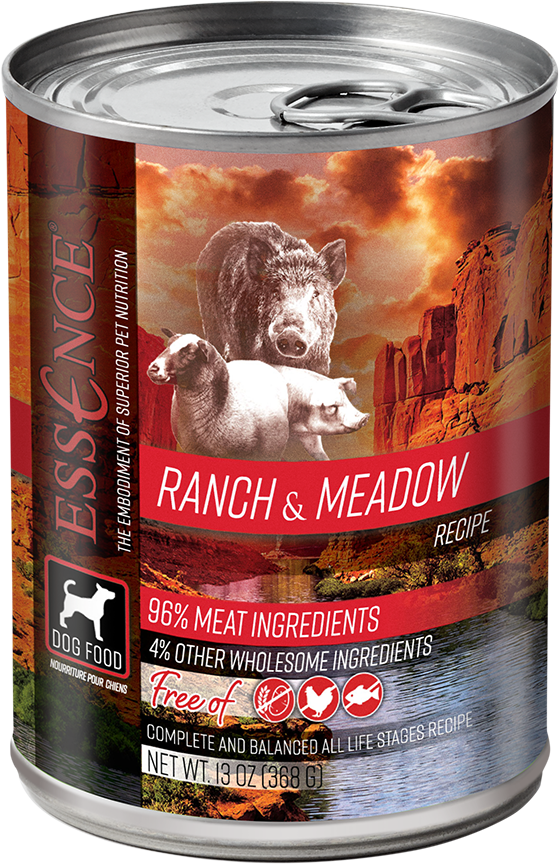 Essence GF Ranch & Meadow Dog Can Wet Food, 13-oz, case of 12
