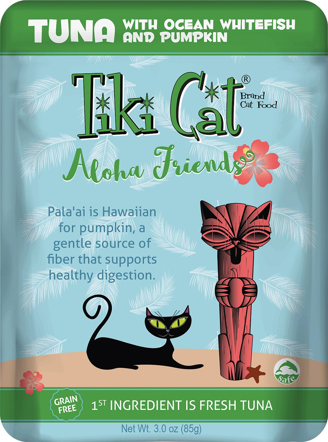 Tiki Cat Aloha Friends Tuna with Ocean Whitefish & Pumpkin Grain-Free Wet Cat Food, 3-oz