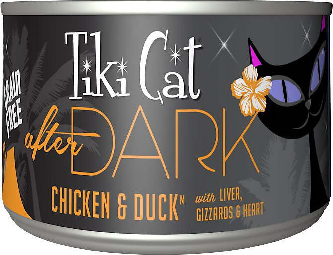 Tiki Cat After Dark Chicken & Duck Canned Cat Food, 5.5-oz