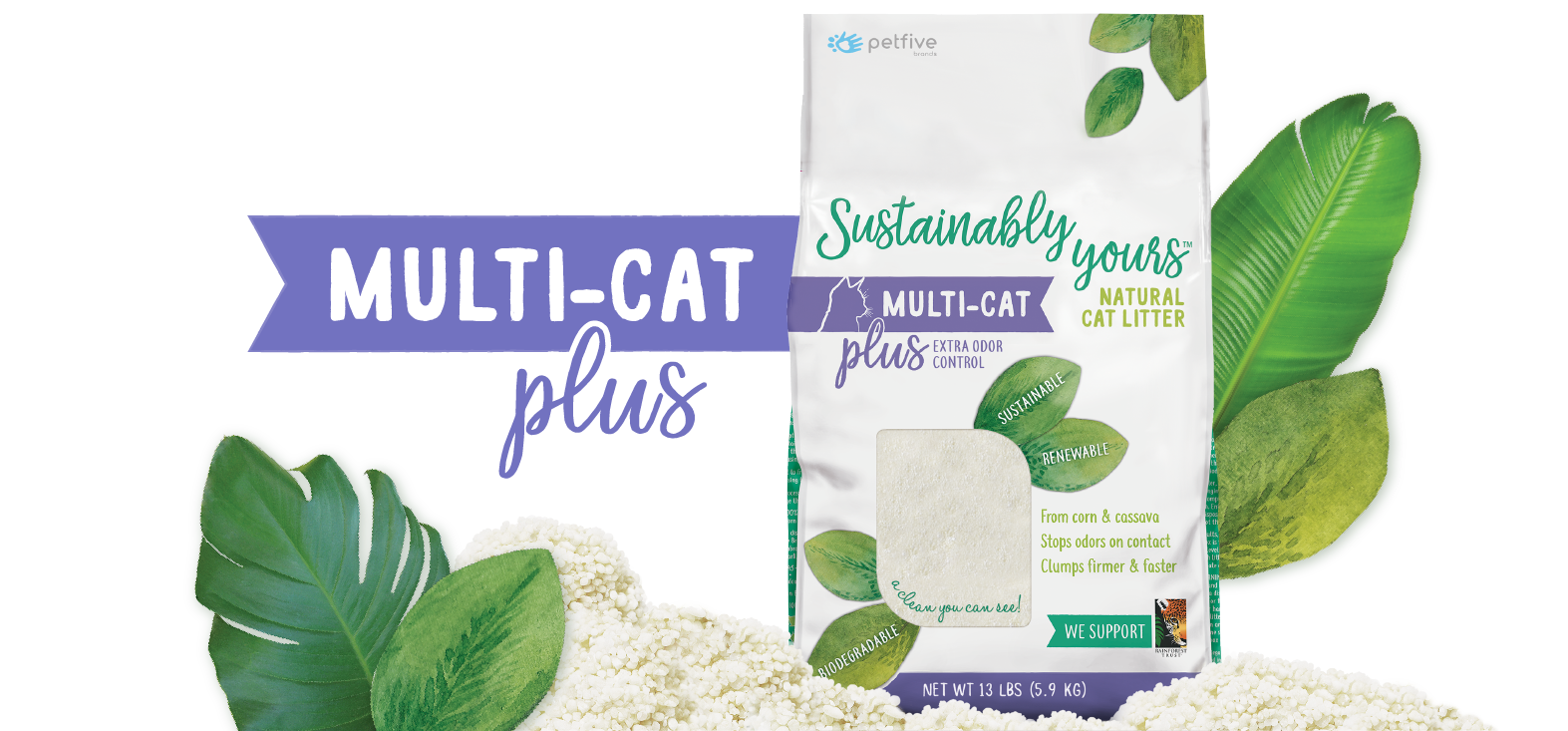Sustainably Yours Natural Multi-Cat Plus Litter