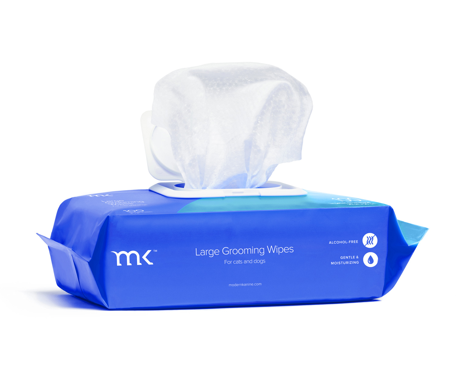 Modern Kanine Unscented Large Grooming Wipes