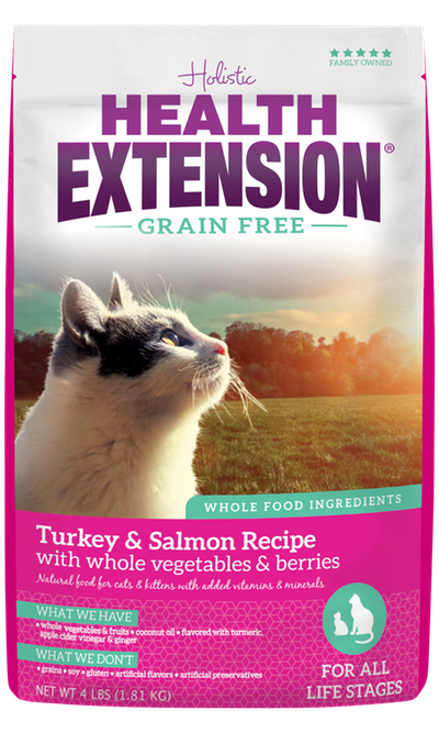 Health Extension Grain Free Turkey & Salmon Recipe Dry Cat Food Size: 1-lb