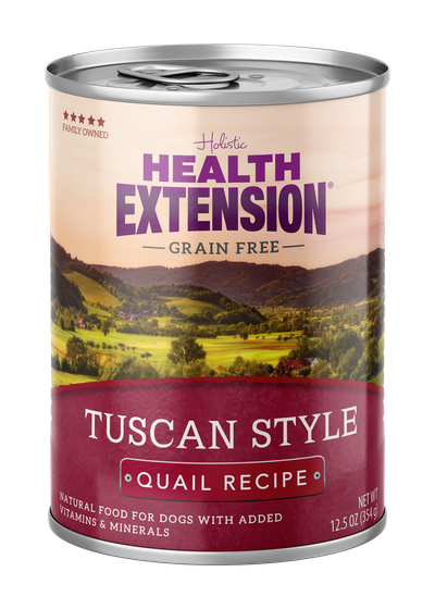 Health Extension Grain Free Tuscan Quail Dog Wet Food