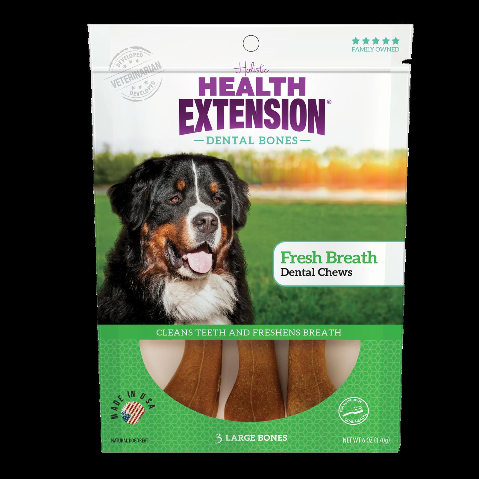 Health Extension Fresh Breath Dental Bones Dog Treats