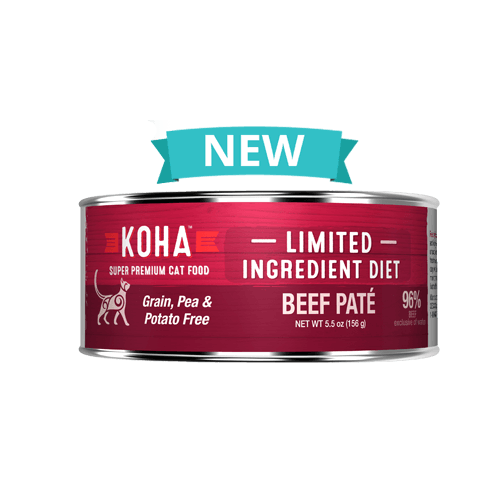 Koha Limited Ingredient Grain Free Beef Pate Cat Wet Food, 5.5-oz