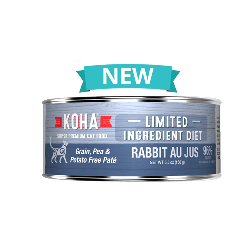 Koha Limited Ingredient Grain Free Rabbit Au Jus Pate Cat Wet Food