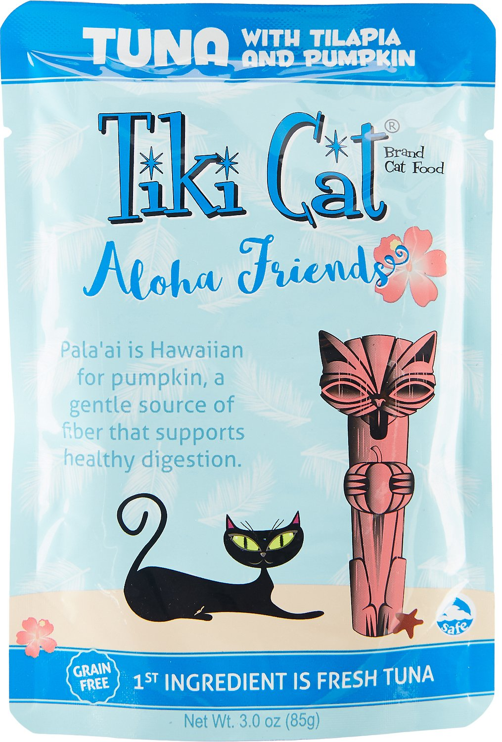 Tiki Cat Aloha Friends Tuna with Tilapia & Pumpkin Grain-Free Wet Cat Food, 3-oz