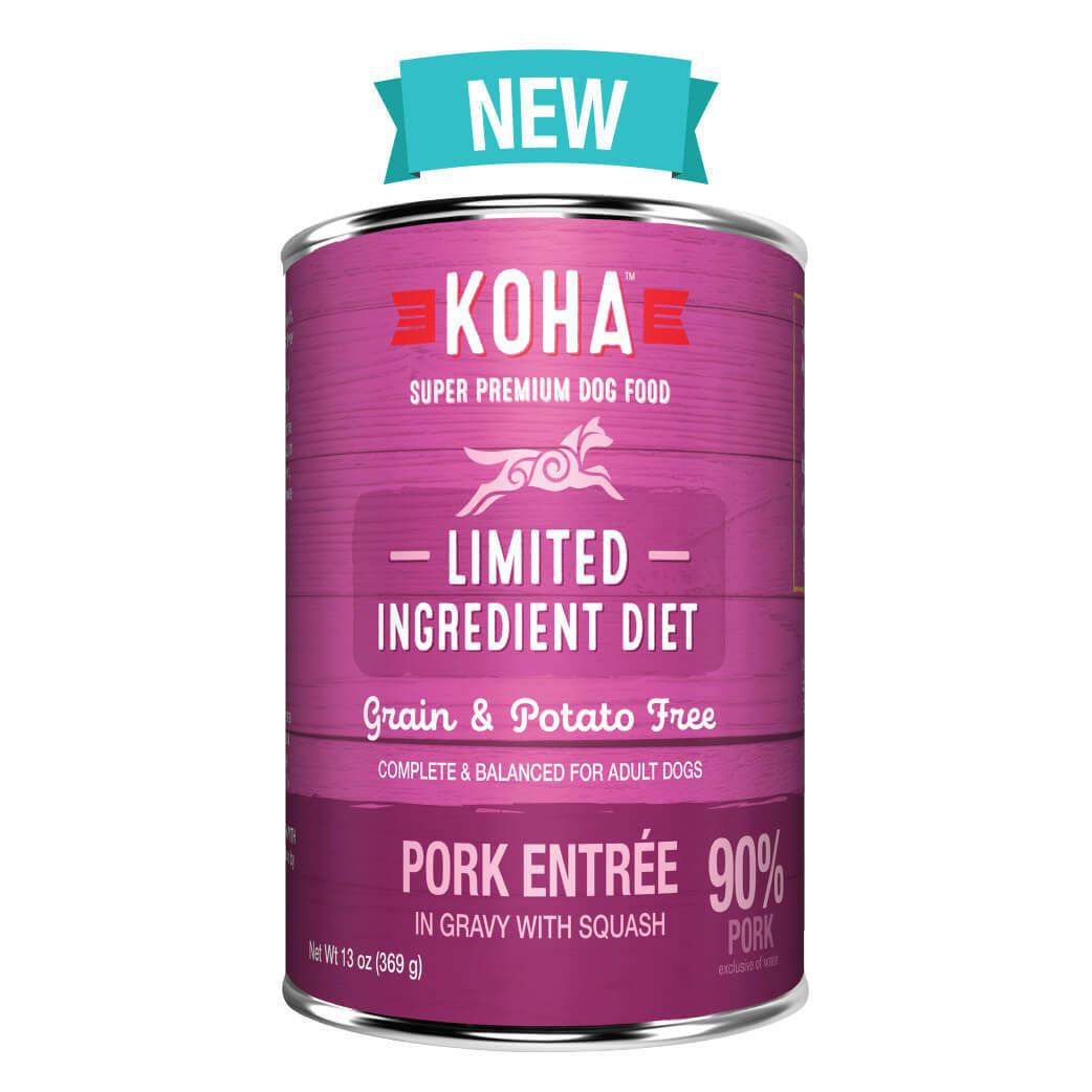 Koha Limited Ingredient Grain Free 90% Pork Entrée Dog Wet Food