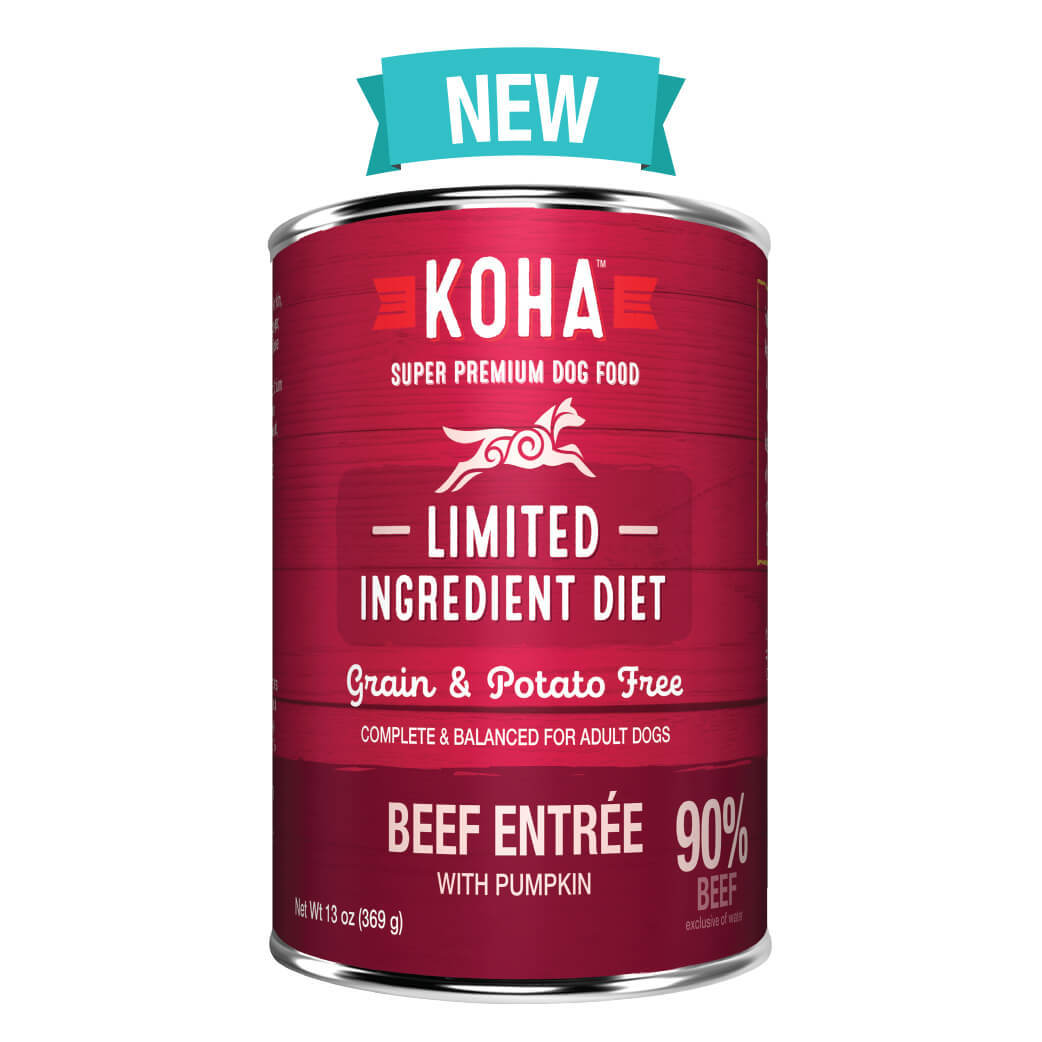 Koha Limited Ingredient Grain Free 90% Beef Entrée Dog Wet Food
