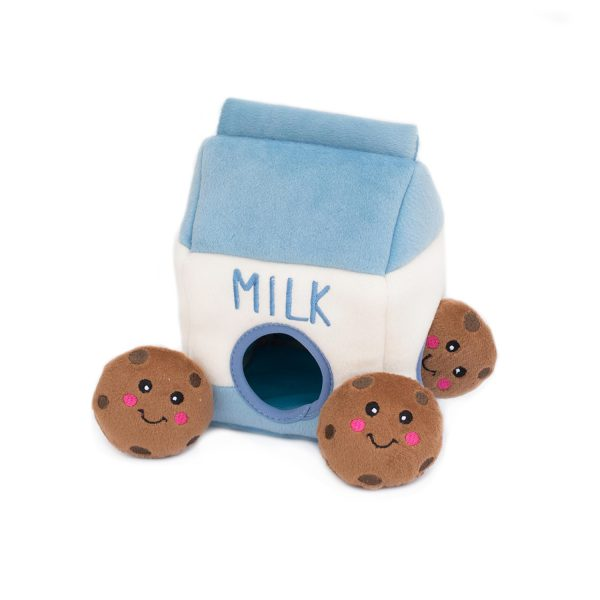 ZippyPaws Burrows Milk & Cookies Dog Toy