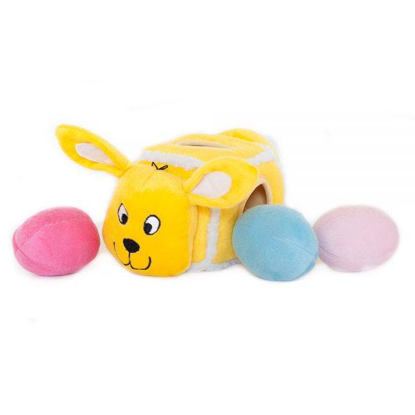 ZippyPaws Burrows Burrow Hide an Egg Bunny Dog Toy