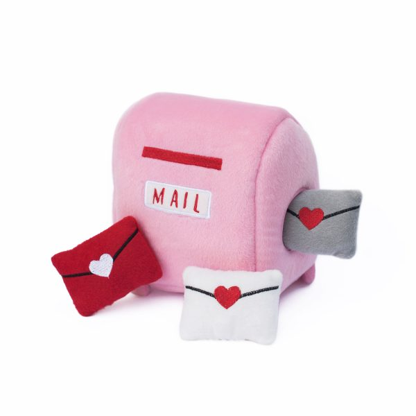 ZippyPaws Burrow Mailbox & Love Letter Dog Toy