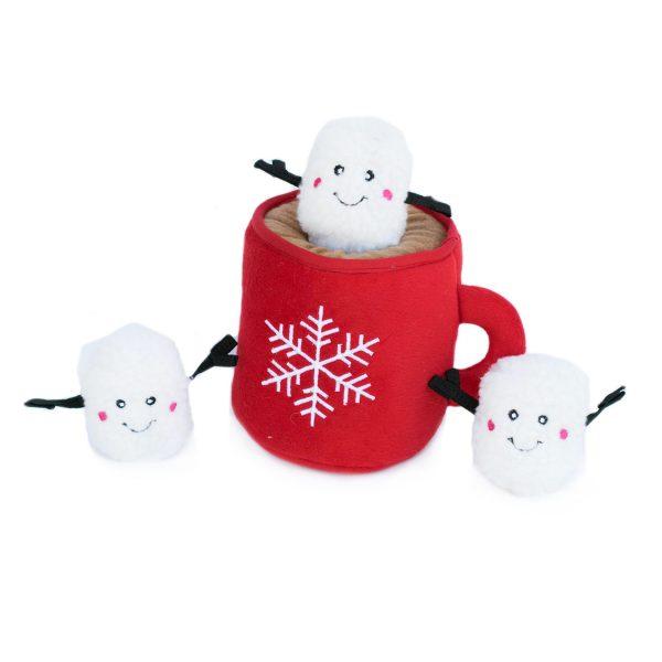 ZippyPaws Burrows Hot Cocoa & Marshmallow Dog Toy