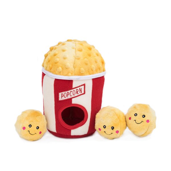 ZippyPaws Burrows Popcorn Bucket Dog Toy