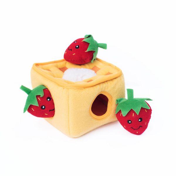 ZippyPaws Burrows Strawberry Waffles Dog Toy