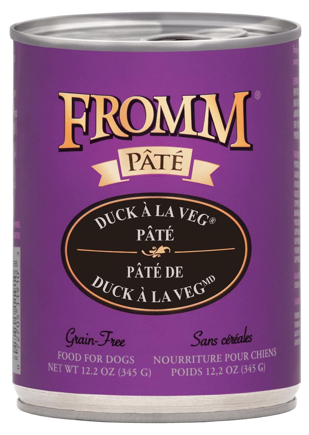 Fromm Pate Grain Free Duck A La Veg Pate Canned Dog Food