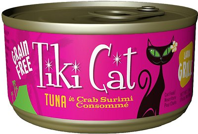 Tiki Cat Lanai Grill Tuna in Crab Surimi Consomme Grain-Free Canned Cat Food, 2.8-oz, case of 12