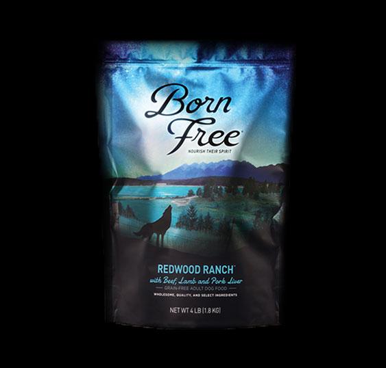 Born Free Redwood Ranch Dog Dry Food, 4-lb