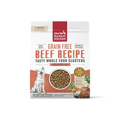 The Honest Kitchen Whole Food Clusters Grain Free Beef Dog Food, 5-lb