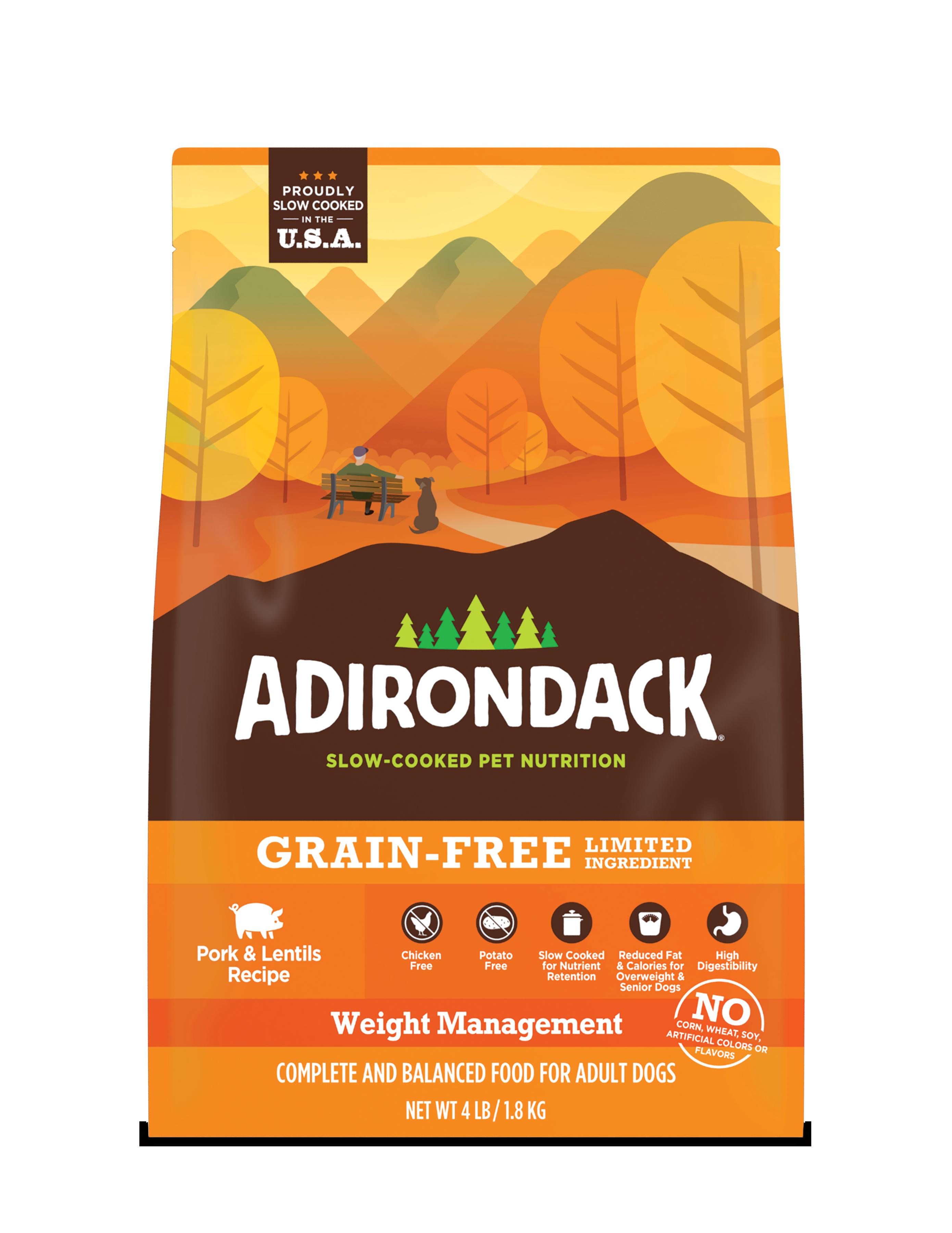 Adirondack Weight Management Pork & Lentils Dry Dog Recipe