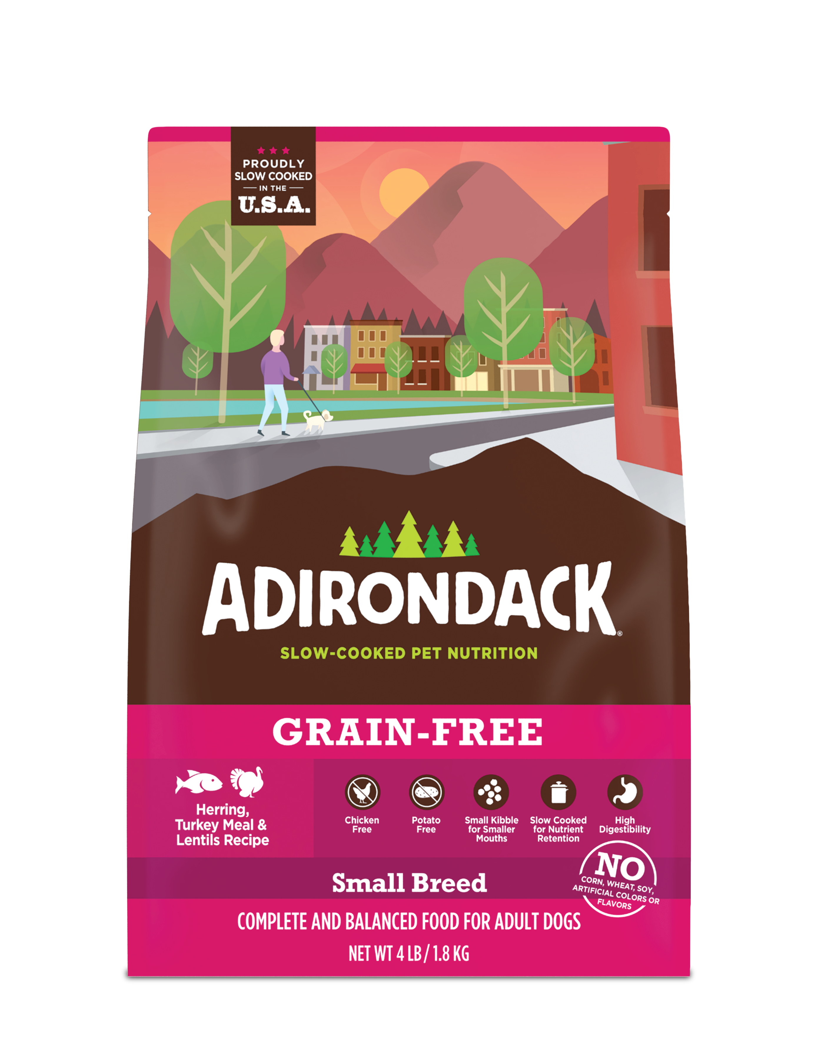 Adirondack Small Breed Herring, Turkey Meal & Lentils Dry Dog Recipe