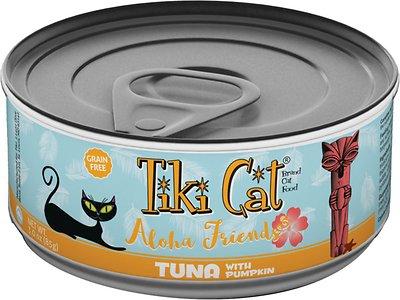 Tiki Cat Aloha Friends Tuna with Pumpkin Grain-Free Wet Cat Food, 3-oz can, case of 12
